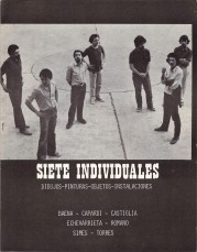 Beletti, Esteban. Fotografía. 1982. Tapa del catálogo Siete Individuales
