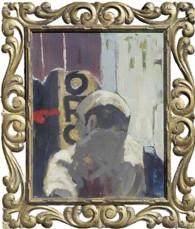 Romano, Tulio; Oro. 1982. Óleo sobre madera, 56 x 55 cm. Colección del artista