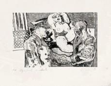 Echevarrieta, Alfredo; Memoria IV. Aguafuerte/aguatinta, 57 x 37 cm. Colección del artista